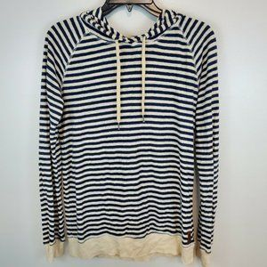 Roots Navy Striped Lightweight Hoodie XS